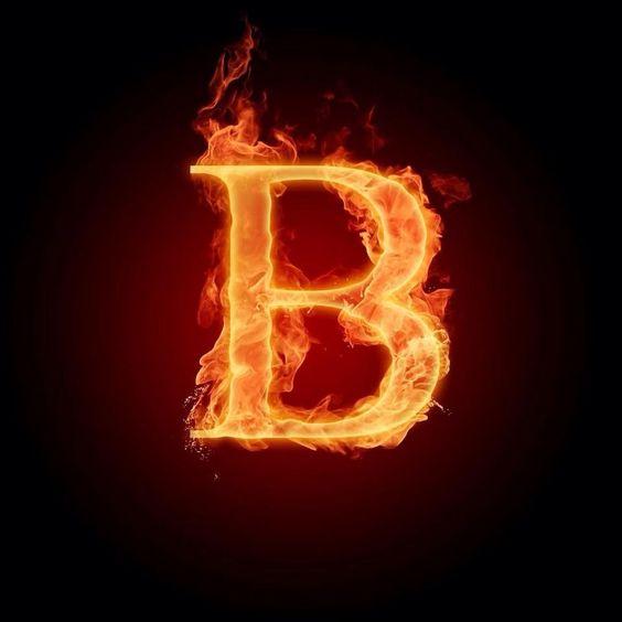 عکس حرف b انگلیسی آتشی