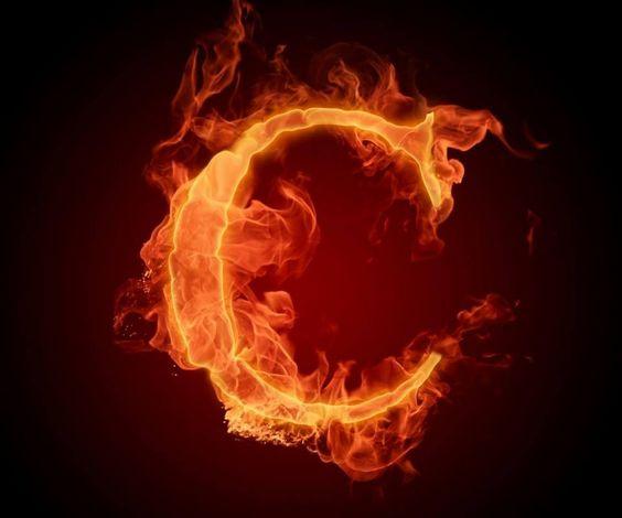 عکس حرف c انگلیسی آتشی