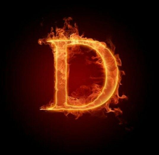 عکس حرف d انگلیسی آتشی