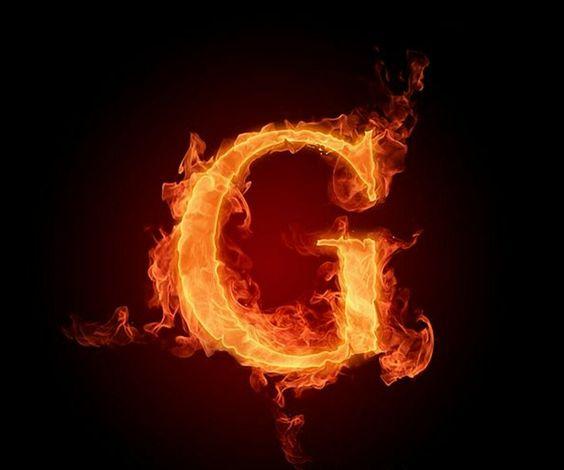 عکس حرف g انگلیسی آتشی