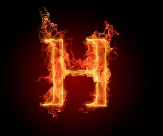 عکس حرف h انگلیسی آتشی