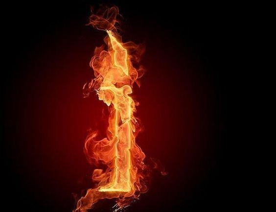 عکس حرف i انگلیسی آتشی