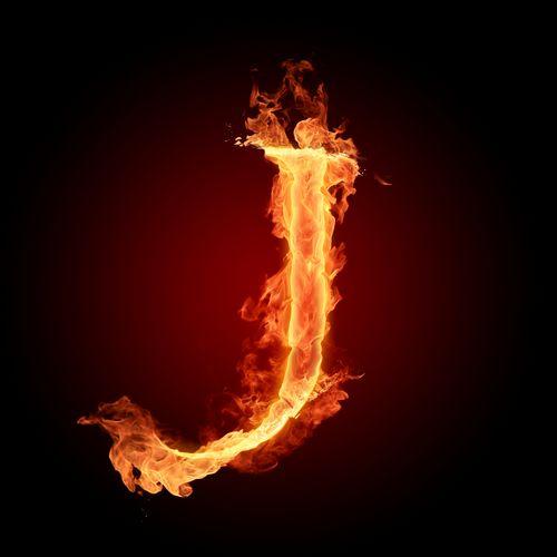 عکس حرف j انگلیسی آتشی