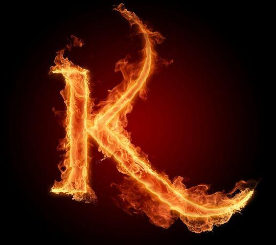 عکس حرف k انگلیسی آتشی