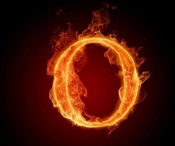 عکس حرف o انگلیسی آتشی