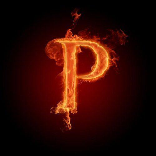 عکس حرف p انگلیسی آتشی
