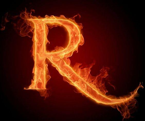 عکس حرف r انگلیسی آتشی