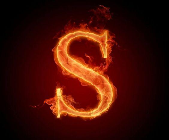 عکس حرف s انگلیسی آتشی